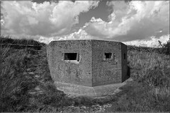 Pill Box - RAF Bradwell Bay (PaulHP) Tags: white black monochrome bay box essex pill raf pillbox bradwell bradwellonsea dengiepeninsula