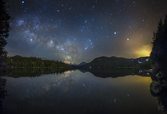 Lost Lake (Ben Canales) Tags: light lake reflection night oregon way portland stars landscape lost star long exposure mt bc ben trail astrophotography pollution hood milky starry canales earthandspace competition:astrophoto=2013