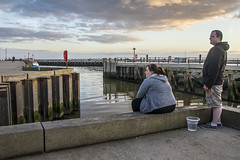 Taking in the evening light (lyndakmorris) Tags: harbour dorset jurassic westbay