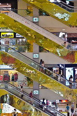 Two, Three and Four (Justortitri) Tags: yellow singapore shoppingmall
