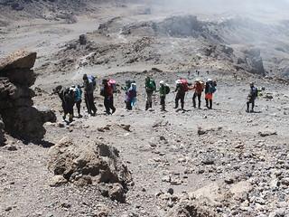 Making the final approach to Uhuru Peak