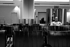 Wait (an abundance of catherine) Tags: travel blackandwhite fly airport flight adventure wait