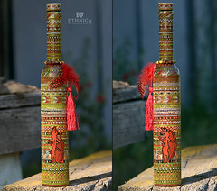 Africana Red (ethnica.handmade) Tags: bottle handmade african interior decoration ornament