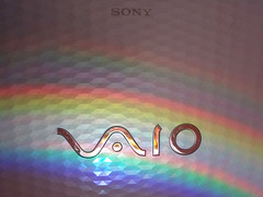 Sony Vaio (Kateography_) Tags: light white colour rainbow spectrum laptop sony prism vaio