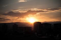 Day 184: Sunset over the capital (Yane Naumoski) Tags: street sunset summer sky urban sun skyline warm cityscape capital macedonia skopje project365 365project