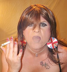 Smokey (LisaH read profile please) Tags: hair gorgeous makeup smoking nails wig transvestite hoops tat lisah 2013