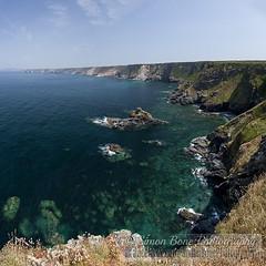 Cornish north coastline (Simon Bone Photography) Tags: blue sea seascape green beach coast sand cornwall shoreline cliffs coastal coastline torquoise beachscape portreath hellsmouth canoneos5dmkii cornishnorthcoast wwwsimonbonephotographycouk canonef24105mmislf4