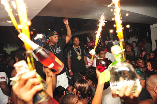 Yo Gotti and Jim Jones  partying at Compound in Atlanta