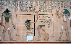 Hunefer's Book of the Dead, detail from Anubis to Thoth