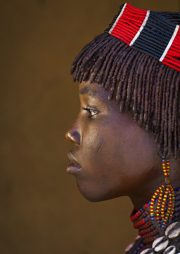 Hamer Tribe Teenager, Turmi, Omo Valley, Ethiopia