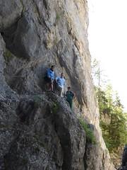 Sarah, Michael, Julia hanging off a cliff (Michael R Perry) Tags: slovenia slovenija triglav triglavnationalpark triglavskinarodnipark triglavski