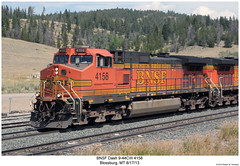 BNSF Dash 9-44CW 4158 (Robert W. Thomson) Tags: railroad train montana diesel railway trains locomotive trainengine ge bnsf dash944cw burlingtonnorthernsantafe dash9 c449w sixaxle blossburg