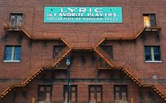 Lyric Theatre (davidwilliamreed) Tags: windows abandoned doors neglected forgotten brickwall fireescape lyrictheatre birminghamal metalstairs
