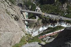 Schöllenenschlucht - Devil's Bridge (Kecko) Tags: 2013 kecko switzerland swiss schweiz suisse svizzera innerschweiz zentralschweiz uri gotthard schöllenen schöllenenschlucht teufelswand andermatt teufelsbrücke swissphoto geo:lat=4664713825932892 geo:lon=858982801437378 geotagged
