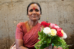 Dadar Flower Market, Vendor with Roses - Mumbai, India (uncorneredmarket) Tags: people woman india maharashtra mumbai indianwoman dadarflowermarket mumbaipeople dadarmarket