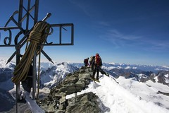 On the summit (sylweczka) Tags: snow mountains alps switzerland climb tour glacier dentblanche hochtour sylweczka