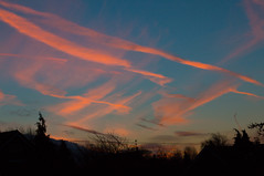 Painted sky (Martin Attfield) Tags: morning winter sky sunrise cam trail