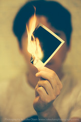Destroy your selfies (LukeOlsen) Tags: usa oregon portland polaroid fire lukeolsen