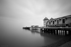 penarth pier (rich lewis) Tags: longexposure sea blackandwhite bw monochrome mono coast pier seaside coastal le penarth penarthpier richlewis