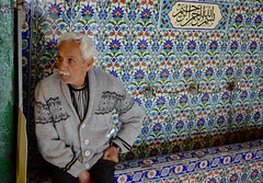 Colorful portrait (Chrissy Olson) Tags: portrait man turkey europe tea istanbul arabic ottoman bazaar turkish