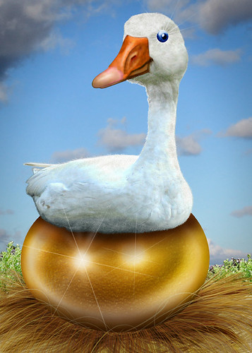 Golden Goose - Caricature by DonkeyHotey, on Flickr