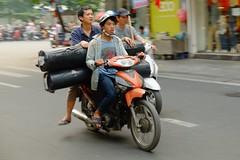 Street Life - Hanoi (Subtitle Asia Overloaded #18) (Andrea_b.) Tags: street people urban walking blurry traffic streetlife vietnam hanoi overloaded reportage longtimeshooting fujixpro1 fujinonxf1855f284r