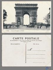 PARIS - L'Arc-de-Triomphe de l'Etoile (bDom) Tags: paris 1900 oldpostcard cartepostale bdom