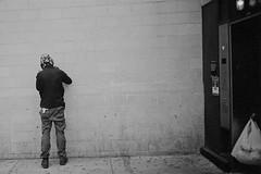 Wall (David Bivins) Tags: wall trix atlanticavenue 400tx diafine bags pacificstreet cinderblocks ricohr1 cinderblockwall ei1250 dxhack 20140126 20141031