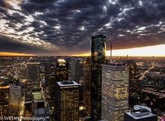 H-CITY KILLER SUNSET PANORAMA (RUSSIANTEXAN ) Tags: longexposure sunset reflection downtown texas skyscrapers dusk tx sony dramatic houston killer breathtaking 2014 jpmorgan rx100 observationdesk jpmorgantower anvarkhodzhaev sonyrx100m3 svetanphoitography