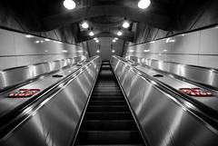 Stop (MarkE_T) Tags: vienna underground lights austria escalator ubahn pentaxk10d smcpentaxda1645mmf4edal
