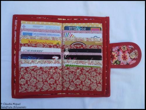 """Carteira para notas, moedas, 24 cartões e cheques """"Flower Power"""""""