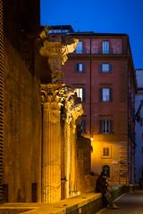 column (NovaTHX) Tags: street city travel light sunset portrait people urban italy rome roma art nature architecture canon square lights europe italia arch colours place artistic 6d