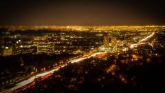 The 405 Crawl (J*Phillips) Tags: california city night lights losangeles freeway getty