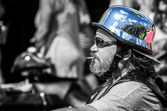 20150314 5DIII Bike Week 2015 432 (James Scott S) Tags: street portrait color beach wet bike canon unitedstates florida candid main rally dirty smoking motorcycle week biker daytonabeach harrys daytona smoker rider ef selective 70300 2015 strt lr5 5diii