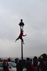 Street Performer in Montmarte (Alex Davis Photography) Tags: street paris france nikon cloudy sacre pole performer couer montmarte d5200