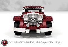 Mercedes-Benz 540K Spezial Coupe - Sindelfingen (1936) (lego911) Tags: auto classic car k 1936 germany mercedes benz 1930s model lego render under over special german mercedesbenz million coupe challenge thousand cad 540 w29 89 sindelfingen povray moc ldd miniland spezial 540k 130944 lego911 overamillionunderathousand