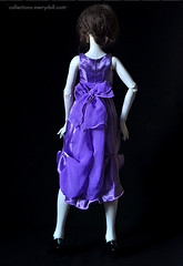 Lilac dress made of satin and chiffon (MerryDoll Art) Tags: fashion doll dress olivia handmade witch magic harrypotter clothes bjd eveninggown fashions ballgown whiteskin iplehouse nyid nandmade mediumbust merrydoll merrydollcollections