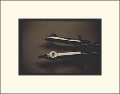 360 degrees (Bob R.L. Evans) Tags: monotone minimalism simple sepiatone stilllifedraftingcompass
