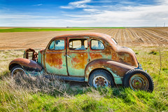 Alone (KPortin) Tags: abandoned vintage automobile view rusty fields adamscounty rustyandcrusty