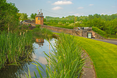 Bratch Locks & Toll House (williamrandle) Tags: uk trees england brick green water wall reflections reeds landscape canal spring nikon outdoor lock ornate waterways tollhouse 2016 wombourne bratch d7100 bratchlocks worcestershirestaffordshirecanal tamron2470f28vc