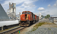 CN 9551 ~ Langley (Chris City) Tags: railroad train spur railway local langley cnr switcher