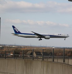 All Nippon Airways B777-381ER - JA784A arriving Heathrow (Barrytaxi) Tags: