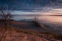 Hiking on the sand dunes at dawn (jaros 2(Ron)) Tags: ontario canada dawn sand raw dunes sandbanks sanddunes manfrotto sandbanksprovincialpark superwide ndgrad tokina111628 nikond300s formathitech