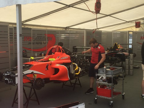 Ayrton Simmons Formula Four car during the BTCC Weekend at Oulton Park, June 2016