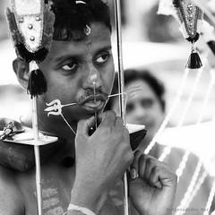 Singapore (ale neri) Tags: street portrait people blackandwhite bw asian singapore indian streetphotography hindu hinduism thaipusam kavadi aleneri alessandroneri