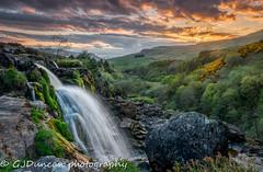 Cascade (Gavin_D2009) Tags: sunset water landscape scotland waterfall relaxing peaceful cascade fintry blending multipleexposures bracketed loupoffintry