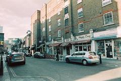 Goulston Street (goodfella2459) Tags: street color colour london history film 35mm lens jack nikon surreal wentworth crime catherine 100 24mm af nikkor whitechapel milf f4 implosion ripper dwellings c41 f28d adox oldandbeautiful eddowes goulston