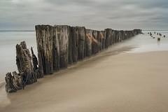 No. 1057 Old Groyne (H-L-Andersen) Tags: longexposure sea cloud seascape canon landscape denmark landscapes overcast hirtshals le lee groyne manfrotto pl landoflight leefilters faskine canoneos6d hlandersen littlestopper 100mmfilters