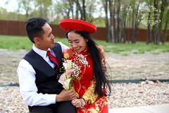 Wayne + Ngan Tea Ceremony (Jeanne Long) Tags: vietnamese tea ceremony 2016 colorado springs photoshoot photography onlybyjeannephotography canon 5dmkii 70200mm ao dai trees outdoor outdoors