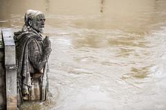 Le zouave du Pont de l'Alma, les pieds dans l'eau. (mzagerp) Tags: paris seine de juin flood rivire pont quai cru dorsay fiver zouave 2016 lalma